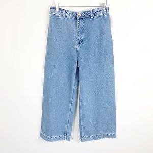 NEW Free People Super High Rise Wide Leg Jeans 29